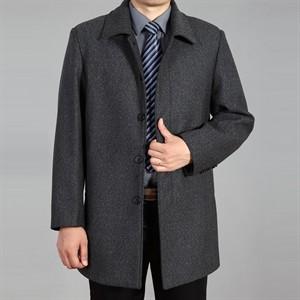 Áo khoác dạ trung niên lông cừu DNG - Màu xám