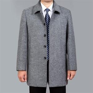 Áo khoác dạ trung niên lông cừu DNG