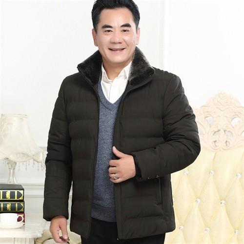 Áo khoác phao cổ lông cao cấp DNG - Đen sáng