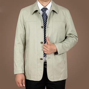 Áo khoác Kaki nam trung niên ZERO-ALL - Màu ghi xám