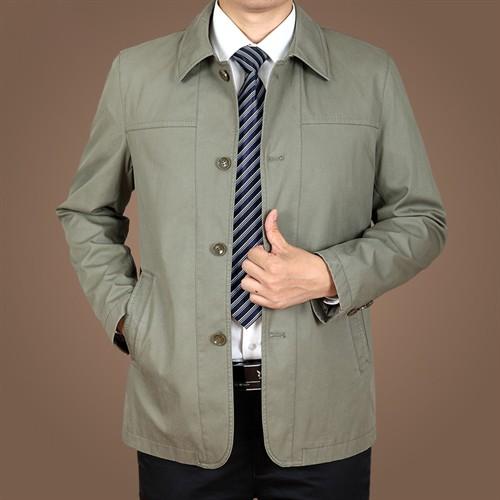 Áo khoác Kaki nam trung niên ZERO-ALL - Màu xám