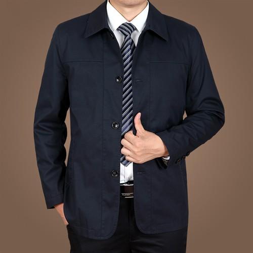 Áo khoác Kaki nam trung niên ZERO-ALL - Màu xanh size 3XL