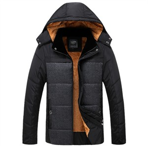 Áo khoác phao nam lót bông dày BHG - Màu xám