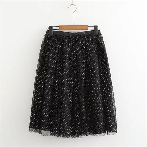 Váy chấm bi phủ ren Zara