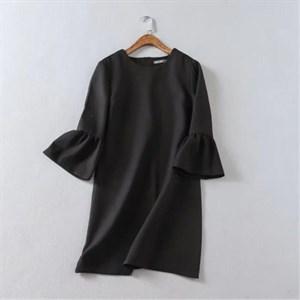 Váy nữ tay áo sen, cổ tròn LDYP