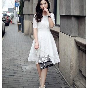 Váy ren cách điệu phong cách Hàn Quốc MiuMiu