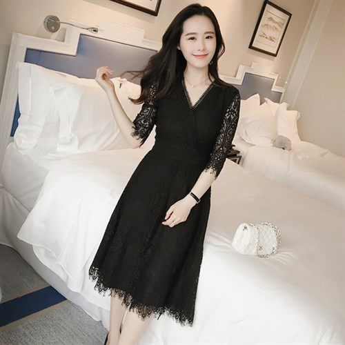 Váy ren cách điệu phong cách Hàn Quốc MK