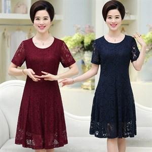Váy ren trung niên sang trọng D&G