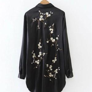 Áo sơ mi thêu hoa lưng Zara