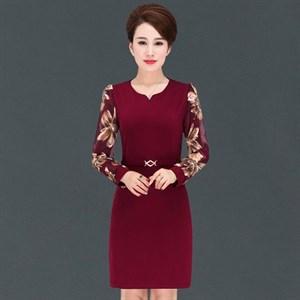 Đầm suông dài tay trung niên Juny
