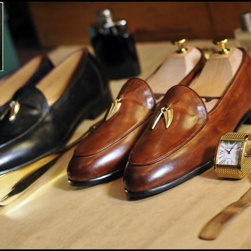 Giày da nam Westman W0091 nâu đậm