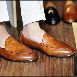 Giày da nam Westman W0091 vàng bò