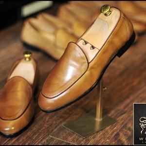 Giày da nam Westman W0092 vàng bò