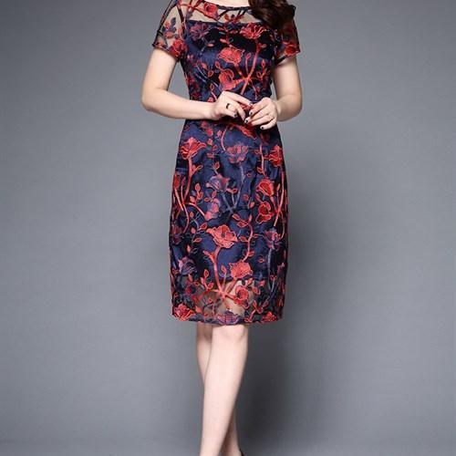 Đầm nữ trung niên phong cách Hàn Quốc JS5759
