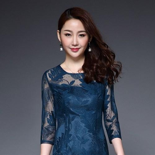Đầm ren lưới phong cách Hàn Quốc JS5759