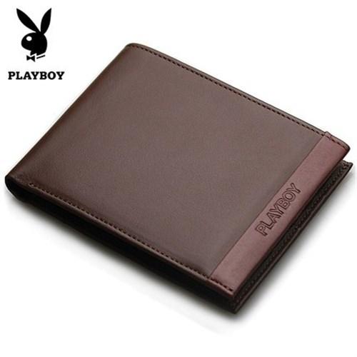 Ví da nam Playboy màu nâu phong cách Classic