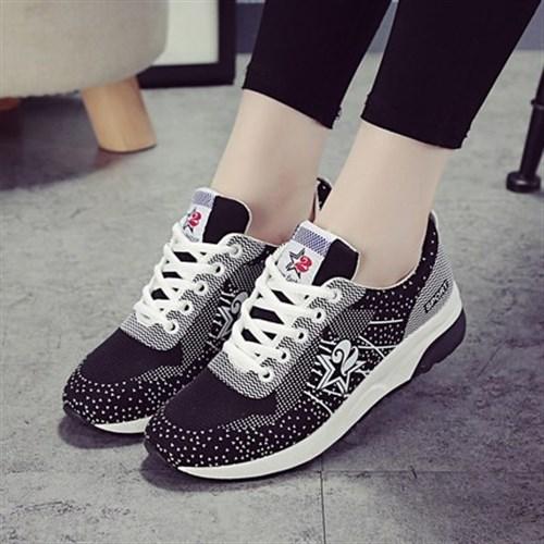Giày thể thao tăng chiều cao nữ Yao (Màu đen)