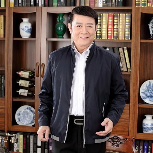 Áo Jacket nam trung niên Tourez cổ đứng - Màu xanh