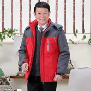 Áo khoác phao nam trung niên Tourez - Màu đỏ