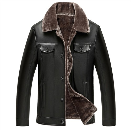 Áo khoác da nam Tourez - Màu đen size L