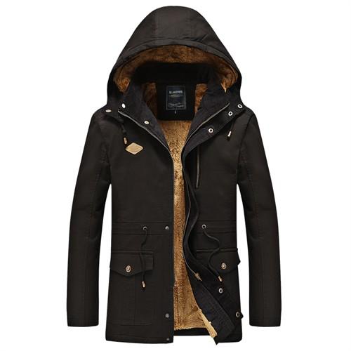 Áo khoác nam cotton cao cấp Tourez - Màu đen