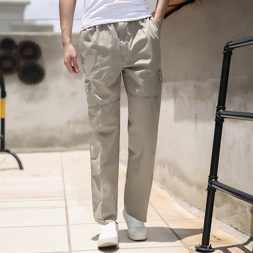 Quần kaki nam trung niên Tourez - Xám nhạt