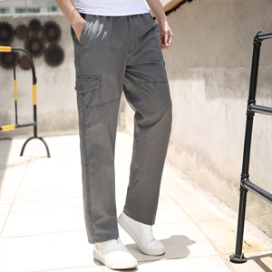 Quần kaki nam trung niên Tourez - Xám đậm