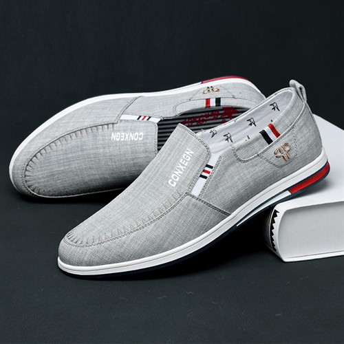 Giày lười nam CONXEGN - Màu xám 44