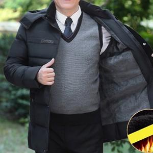 Áo khoác phao lông vũ nam trung niên ADG - Đen M
