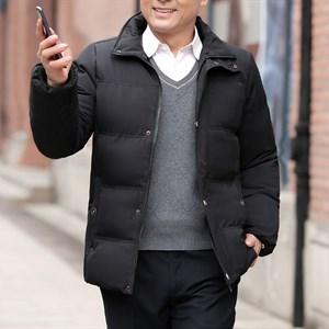 Áo khoác phao nam trung niên cổ lông BHG