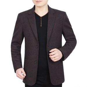 Áo vest dạ nam lông cừu 2 khuy GULL - Cà phê M