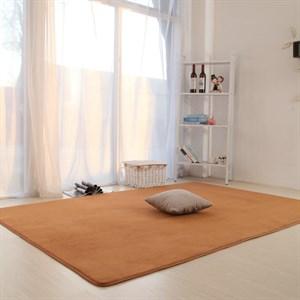 Thảm trải sàn lông nhung cao cấp Yimei - Kaki 1m2-2m