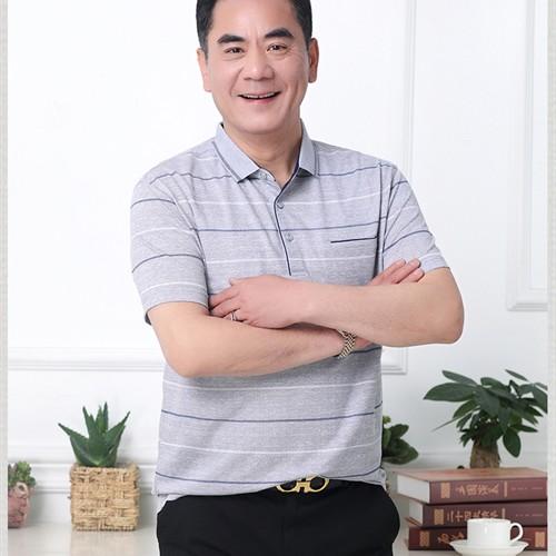 Áo phông nam trung niên DPN - Xám nhạt XL