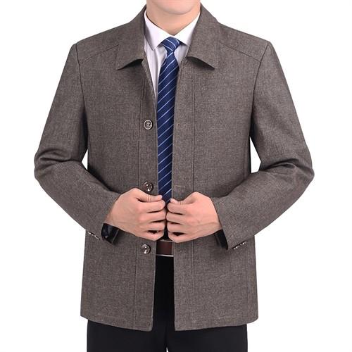 Áo khoác nam trung niên cổ bẻ JBP - Kaki L