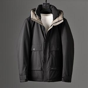 Áo khoác phao lông vũ nam BAINIOU - Màu đen