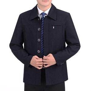Áo khoác nam trung niên cổ bẻ túi ngực JBP - Xanh xám M