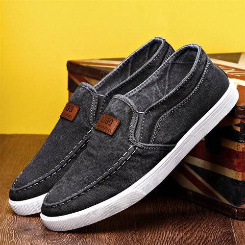 Giày vải lười nam LIGG - Xám 39