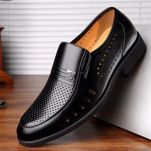 Giày da nam trung niên đục lỗ thoáng khí DARAGON-FLY