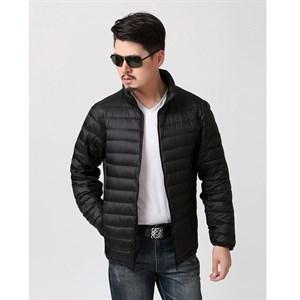 Áo khoác phao nam nhẹ cổ đứng HANDU - Màu đen