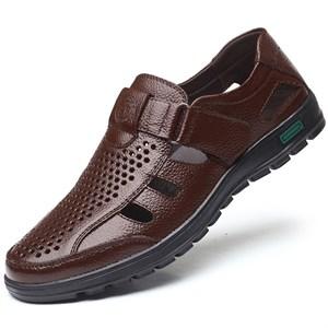 Giày da nam thoáng khí mùa hè GDD - Màu nâu