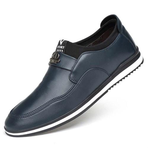 Giày lười nam da bò CONXEGN - Màu xanh