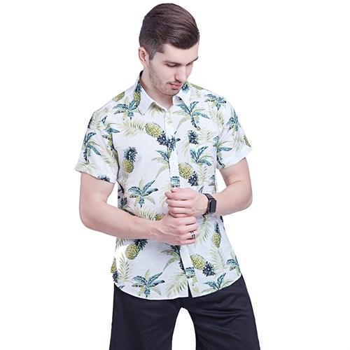 Áo sơ mi nam tay ngắn phong cách Hawaii - Cây dừa