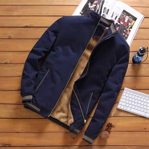 Áo khoác nam kaki lót lông PNG - Màu xanh