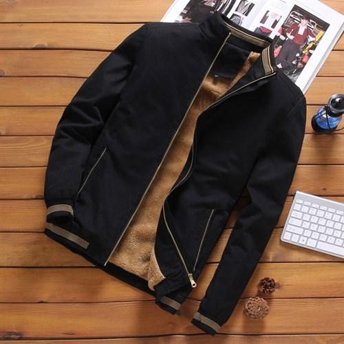 Áo khoác nam kaki lót lông PNG