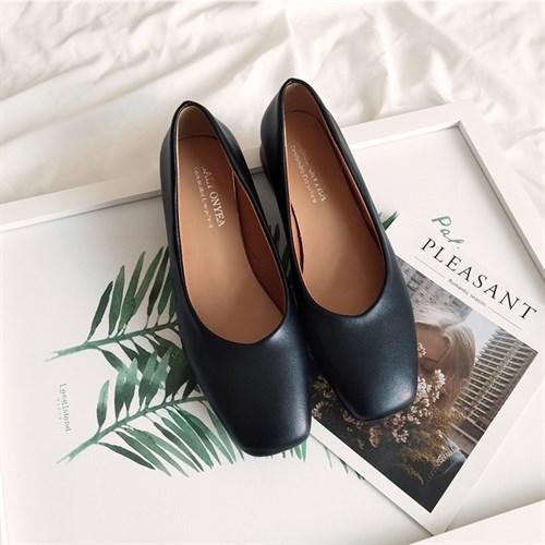 Giày nữ gót vuông đế thấp BALY ONYEA