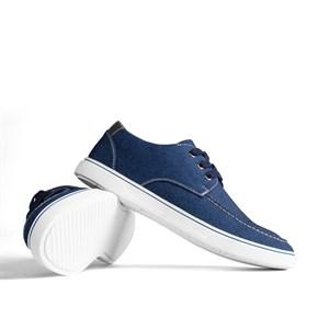 Giày vải nam Demin buộc dây