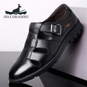 Giày da nam trung niên thoáng khí DILUO DAISHU