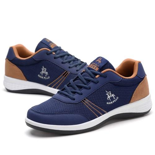 Giày thể thao nam thoáng khí NAIK PLLO - Màu xanh size 44