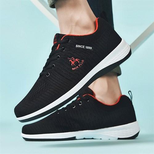 Giày nam thể thao sợi dệt NAIK PLLO - Màu đen