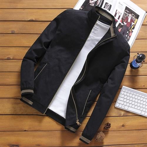 Áo khoác nam kaki PNG - Màu đen